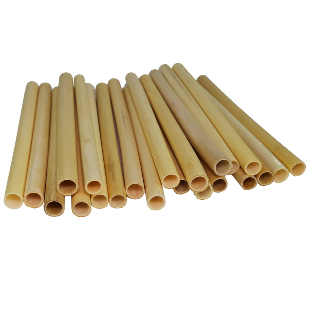 Large natural fun drinking straws from reed grass