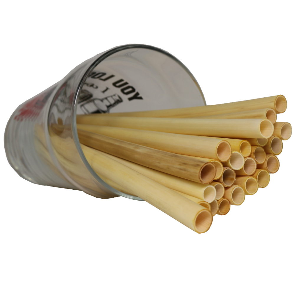 Medium hard natural drinking straws for hot drinks from cane