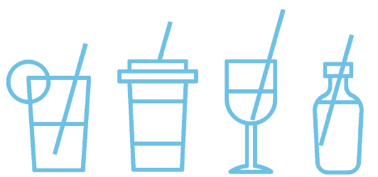Thin drinking straws can be used for hot and cold beverages, juices, cocktails, coffee, tea or soft drinks.