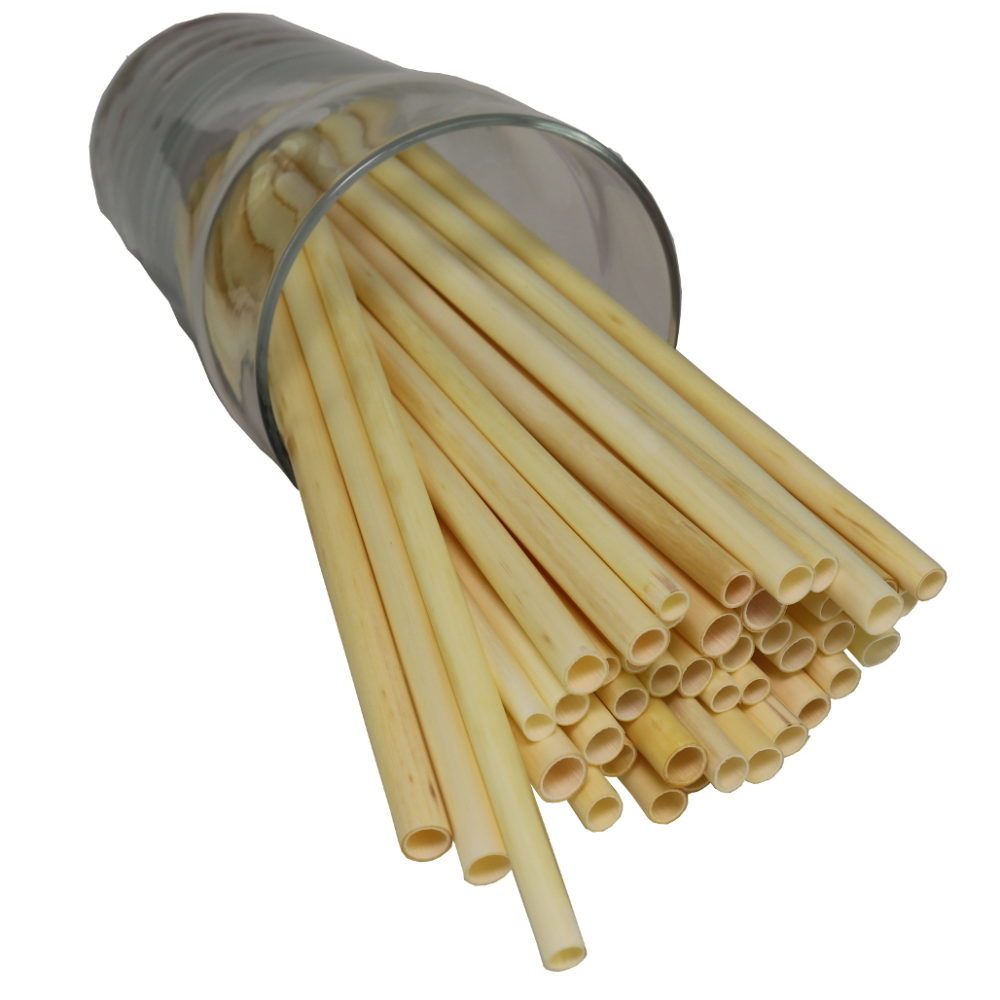 thin extra long drinking straws from biodegradable reed