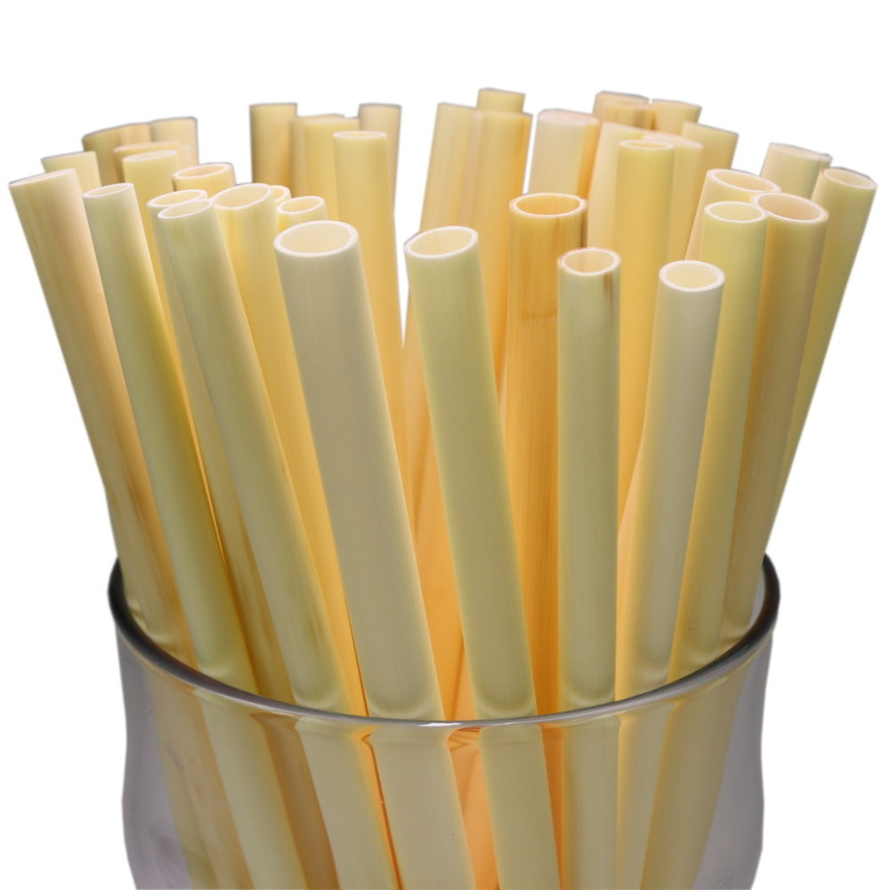 thin long straws for drinking made from reed