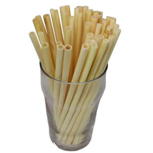 thin straws for hot drinks made of cane