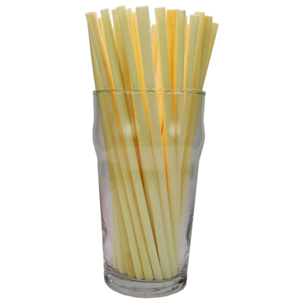 Cane natural thin long drinking straws
